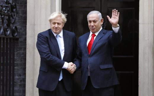 Boris Johnson- Benjamín Netanyahu